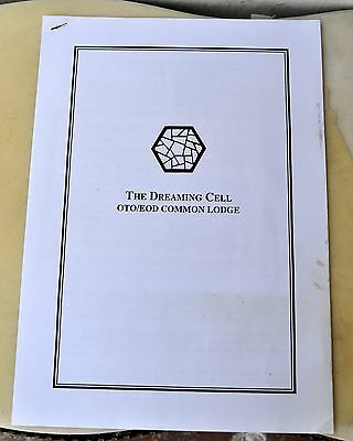 The Dreaming Cell OTO/EOD Common Lodge Orig. Typhonian Document by Kenneth Grant