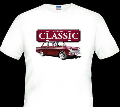 Ford   Cortina   Mk1    White     Tshirt   Men's Ladies  Kid's  Sizes