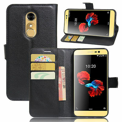 Flip Magnetic Card Wallet PU Leather Case Stand Cover Skin For ZTE Blade A910