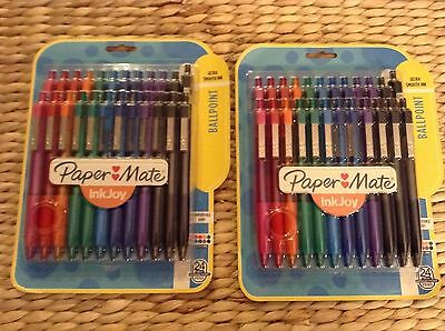 2-Paper Mate InkJoy 300RT 24-Pack Assorted Med Point Retractable Ballpoint Pens