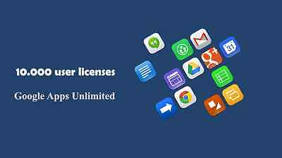 Domain name with 10.000 users for Google Apps Unlimited Storage