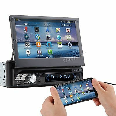 "UK Android 7"" Car Stereo DVD Player Single 1Din I GPS Nav Sat Touch Screen BT 3G"