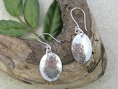 925 OVAL DISC EARRINGS, upcycled from sterling silver vintage spoons.