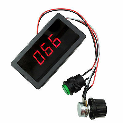 6V 12V 24V Max 8A PWM DC Motor Speed Controller With Digital Display Switch