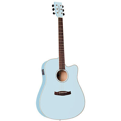 TANGLEWOOD Discovery Dreadnought Acoustic Electric Guitar, Surf Blue