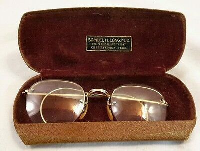 Antique Vintage Bausch & Lomb, Eye Glasses 1/10 12k Gold Filled