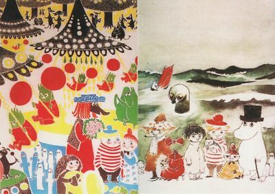 Moomin Finland Official Mint Postcards (2) Very Nice