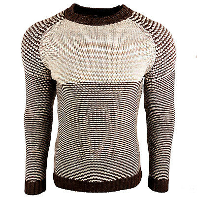 Subliminal Mode - Pull Over Col arrondi Homme Tricot SB-6006 Grosse Maille