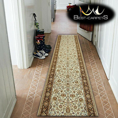 Thick Hall Runner TRADITIONAL OPTIMAL RUTA CREAM Width 67-150 cm extra long RUGS