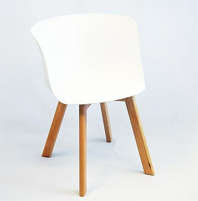 Mmilo Design About A Chair Armchair Dining Chairs with Solid Wood - White x4 set