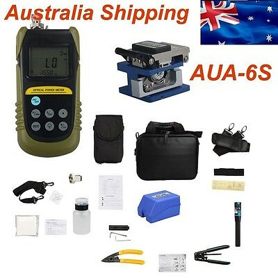 Australia Ship Fiber Optic FTTH Tool Optical Power Meter Fiber Cleaver AUA-6S