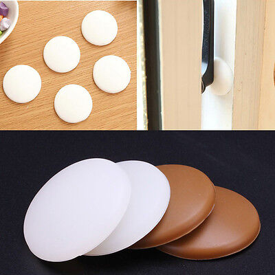 1-10x Round Wall Protector Self Adhesive Door Handle Bumper Guard Stopper Rubber