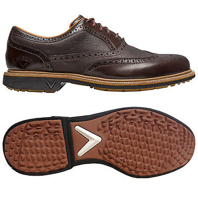 Callaway Mens Monterey Brogue Spikeless Golf Shoes - New Waterproof Leather 2016