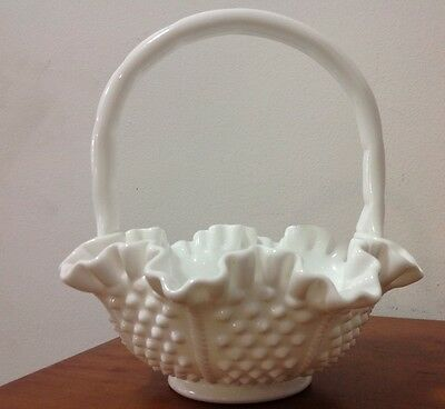 White Fenton Basket
