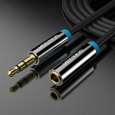 3.5mm Male to Female Stereo Jack Headphone Extension Cable Aux Audio Cord Lead