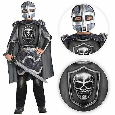 NEW Childs Teens Boys Halloween Medieval Terror Knight Fancy Dress Party Costume