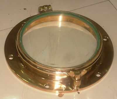 New Nautical Marine Brass Round Ship Porthole Full Brass With Clear Glass 1 Pcs