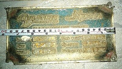 Vintage Original Marine Brass Ship Plaques (Name Plate) Of Ulstein Norsea