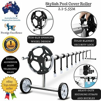 New Swimming Pool Cover Roller Reel Adjustable Solar Bubble Blanket with Wheels