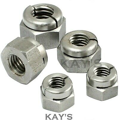 M8 STAINLESS STEEL GENUINE AEROTIGHT® ALL METAL SELF LOCKING NUTS QTY 10