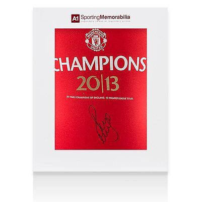 Paul Scholes Signed Manchester United Shirt 2013 Champions - Gift Box