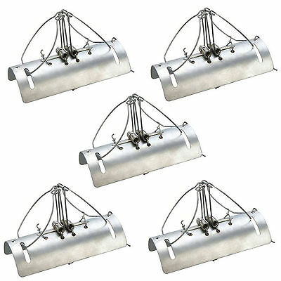 New 5 Pack Mole Tunnel Traps Fast Quick Easy Kill Heavy Duty Steel