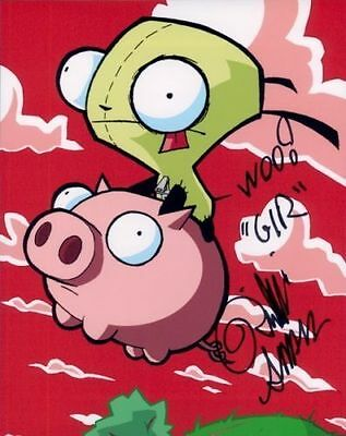 Rikki Simons In Person Signed Photo - A1189 - GIR - Invader ZIM