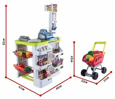 Kids Home Kitchen Play Set Toy With Dough Utencils & More