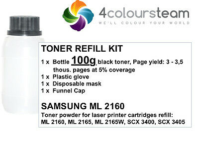 100g TONER REFILL FOR  SAMSUNG ML 2160 2165 SCX-3400/3405 SF-760P MLT-D101S