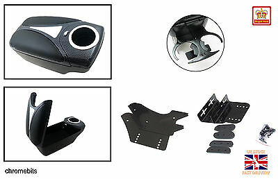 Universal QUALITY Arm rest Armrest Centre Console Carbon look car auto NEW