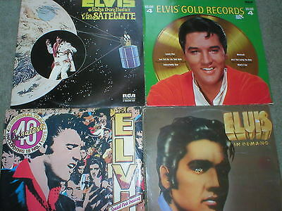Elvis LPs. 40 Greatest ( Pink Vinyl), Aloha, In Demand, Gold Records 4.