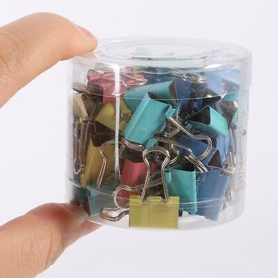 60x Colorful Metal Paper File Ticket Binder Clips 15mm Office School Clip