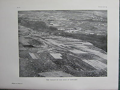 1918 Wwi Ww1 Print ~ The Valley Of The Luce At Hangard