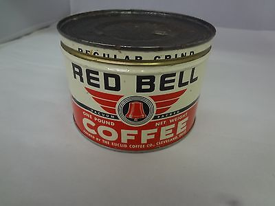 Vintage Red Bell Brand Coffee Tin Advertising Collectible Graphics M-331