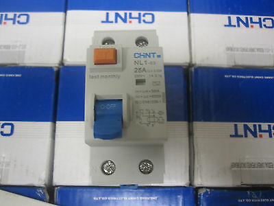 New Chint 2-Pole 25A Circuit Breaker Nl1-63
