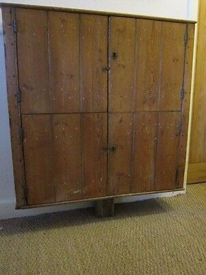 Antique Victorian Pine School Cupboard 93 cm high 94 cm wide 22cm deep