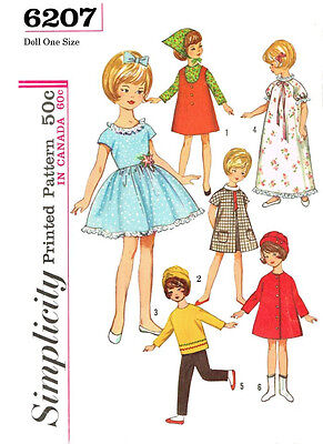 Vintage 8 inch doll Penny Brite clothes sewing pattern - Simplicity 6207