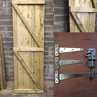 Wooden Garden Side Gate, Treated, Safe.  Bespoke Gates Wooden Gate Heavy Duty