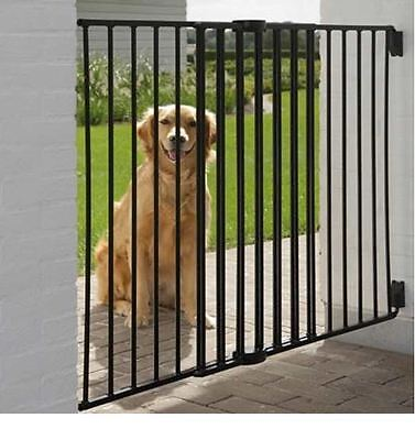 Extra Tall Pet Gate Indoor/Outdoor Extendable Portable 95cm High Double Locking