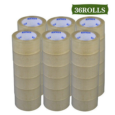 "36 Rolls Clear Carton Sealing Packing Packaging Tape 2""x110 Yards 1.8mil 1case"
