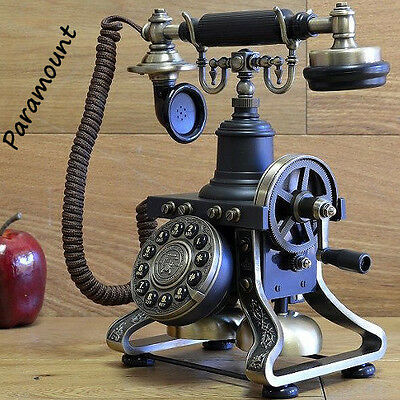 Paramount Antique Retro Old Fashioned Eiffel Tower Home Phone Reproduction Crank