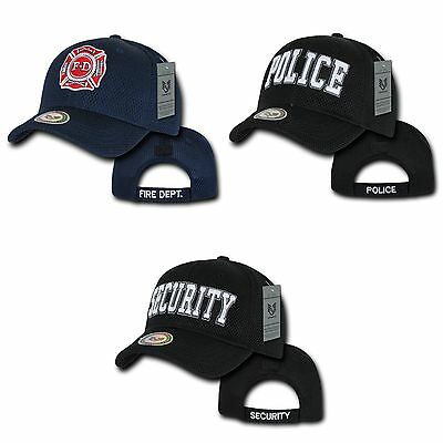 Rapid Fire Department Police Security Air Mesh Baseball Caps Hats Cap Hat
