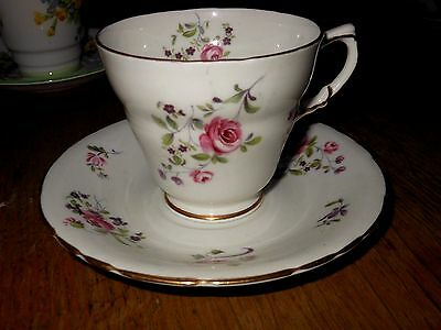 Vintage HM Sutherland  Bone China  England Cup and Saucer