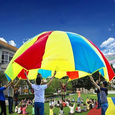 2M Kids Outdoor Game Play Parachute Large Children Colorful Exercise Sport Toys