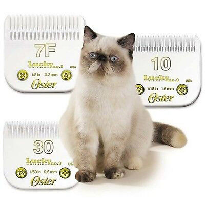 Oster Golden A5, Turbo A5 and A6 Lucky Cat No. 9 Feline clipper Blades #10,30,7F