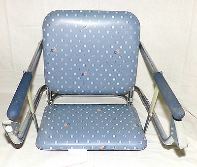 Graco Tot Loc Clip On Booster Seat High Chair Portable Foldable Blue Floral
