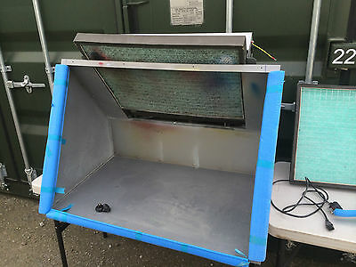 BenchVent BV100H-D Bench Hood Mounted Extraction Spray Glue Cabinet Booth