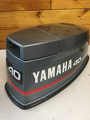 90 Yamaha 40 50 Hp 2 Stroke Outboard Motor Top Cowl Cover Hood Freshwater MN