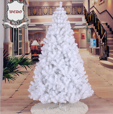 Clearnace: 1.8m/6ft White Artificial Christmas Tree Xmas 180 cm 6 feet PVC