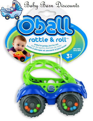 Oball Rattle & Roll Car - Blue